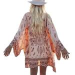 Printed Chiffon Loose Shawl Kimono Cardigan Boho Coat