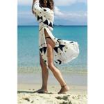 Chiffon Cardigan Geometric Long Loose Shawl Kimono