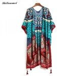 Cardigan Fashion Printed Casual Loose Kimono
