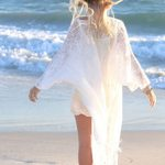 Lace cardigan Tassels  Cape Tops Kimono