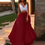 Chiffon Swing Long Casual High Waist Boho Skirt