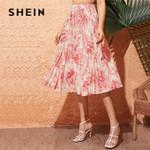 Landscape Print Pleated High Waist Long Boho Skirt