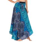 Elastic Waist Printing Long Hippie Bohemian Skirt