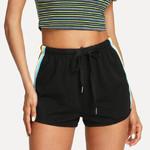 High Waist  Rainbow Printed Sport Elastic Shorts