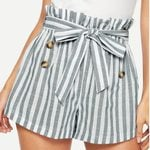High Waist Sports Strip Loose Shorts