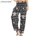 High Waist  Harem Elephant Beach Boho Pants