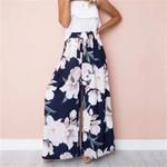 Fashion Floral Print Stretch Wide Leg Long Bohemian Loose Pant