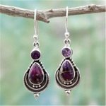 Vintage Crystal Water Drop Ethnic Bohemian Earrings