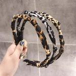 Ethnic Pattern Knotted Leopard Knot Thin Bohemian Hairband