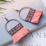 Ethnic tassels Vintage statement jewelry bohemian earrings