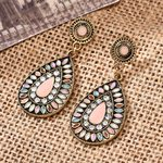 Jewelry Fashion Vintage Round Pendant Bohemian Earrings
