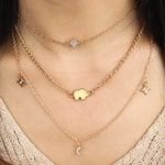 Exaggerated Pendant Jewelry Fashion Moon Star Bohemian Necklace
