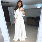 Turn-down Collar Long Sleeve Bodycon Dress