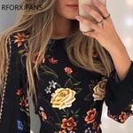 Long Sleeve Bishop Sleeve Floral Dress