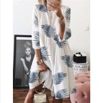 Fashion Tunic Baggy Long Sleeved Vintage Floral Dresses