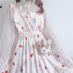 Cute Strap Vintage Casual Floral Dress
