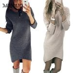 Loose Casual  O Neck Long Sleeve Dress