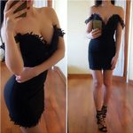Sexy Lace Sleeveless Strapless Off Shoulder Dress