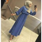 Muslim Long Sleeve Folk Custom Loose Office Dress