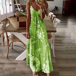 Floral Sexy Off Shoulder Sleeveless Casual Floral Printing Dress