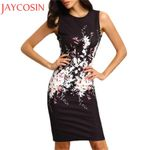 Fashion Business Sexy Sleeveless Floral Print Dresses