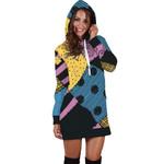 Fashion Long Sleeve Pocket High Waist  Sexy Hooded Print Dresses