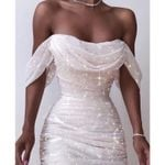Off Shoulder Pencil Clothing Sexy White Dresses