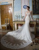 Mermaid Robe Lace Tulle Sexy Chapel Wedding Dress
