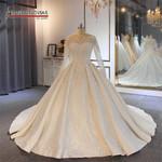 gown designer New sleeves wedding dress
