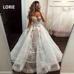 Tulle Bridal Gown Ball Backless Lace Princess Wedding Dress