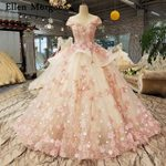 Flowers Lace up Sheer Neck Elegant Lace Princess Wedding Dresses