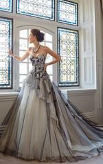 Vintage Victorian Gothic A-Line Tulle Lace Vintage wedding dress
