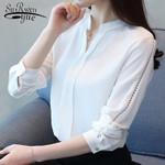 chiffon long sleeve blouse