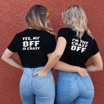 Printing Letter Matching  Best Friend T-Shirts