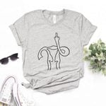 Cotton Casual Funny Middle Finger T-shirts