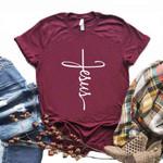 Cotton Casual Funny Jesus cross Christian  Print