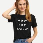 Loose Short Sleeve Letter Print  Slogan T-shirt
