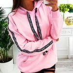 Long Sleeve Pullover Letter Print Hoodies