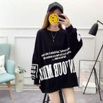 Long Pattern Student Loose  Sleeve Sweatshirt