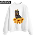 Pullover Korean Fashion Gothic Sunflower Sweatshirt