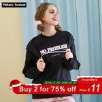 Hip Pop  Letter Printed Casual Sweatshirt