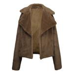Long Sleeve Slim  Fashion Fur Coat Fluffy Faux Rabbit Jacket