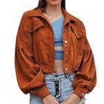 Patchwork Buckle Lapel Slim Windbreaker Short Jacket