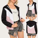 Casual Long Sleeve Fashion Windbreaker Cardigan Jacket