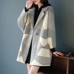 Long Sleeve Turn-down Collar Casual Loose Wool Blend Coat