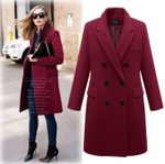 windbreaker long paragraph woolen coat