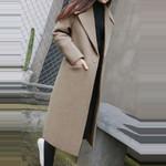Vintage Office Long Sleeve Button Woolen fashion coats