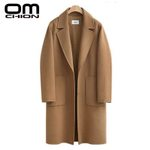 Casual Loose Elegant Single Breasted Woolen Coat