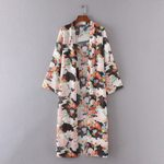Cardigan vitality Print Chiffon Loose Shawl Kimono