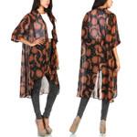 Cardigan Long Shirt Vintage Retro Chiffon Loose Vintage Kimono